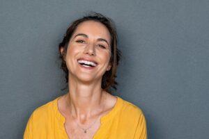 Mature woman laugh